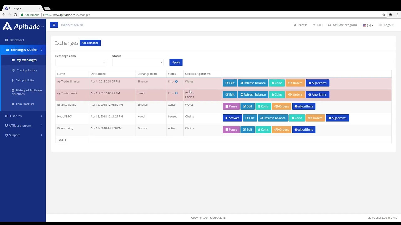 automated cryptocurrency trading system